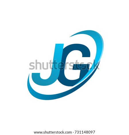 Initial Letter Jg Logotype Company Name Stock Vector Hd Royalty