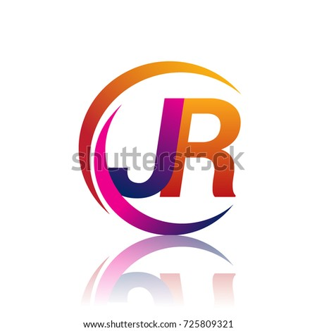 Initial Letter Jr Logotype Company Name Stock Photo Photo Vector