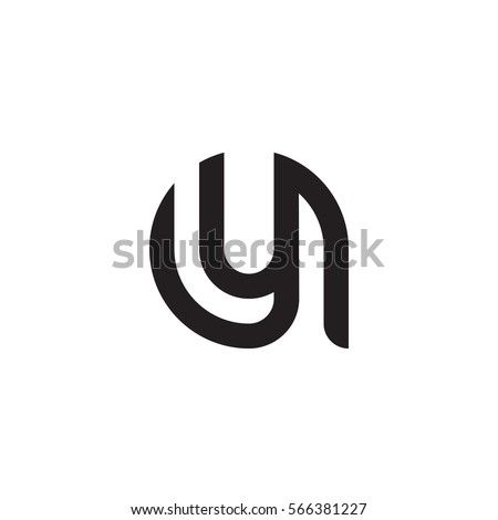 Initial Letter Logo Ay Ya Y Inside A Rounded Lowercase Black Monogram