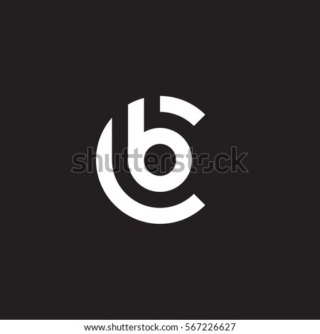 Initial Letter Logo Cb Bc B Stock Vector 567226627