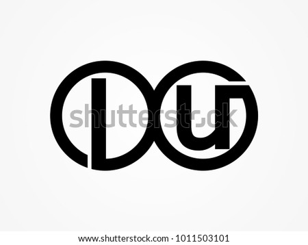 Initial Letter Logo Lu Lowercase Related Stock Photo Photo Vector