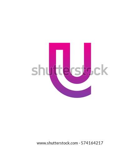 Initial Letter Logo Lu Ul Circle Stock Vector 2018 574164217