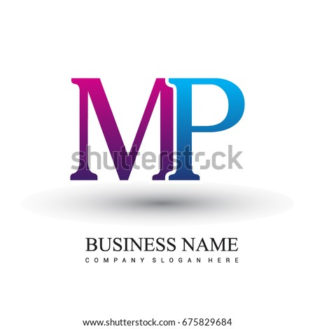 Initial letter logo mp colored red stock vector 675829684 shutterstock initial letter logo mp colored red and blue vector logo design template elements for your spiritdancerdesigns Images