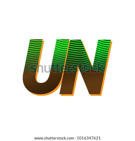 Letter un logo stock images royalty free images vectors initial letter logo un colored green and brown with striped composition vector logo design template spiritdancerdesigns Choice Image