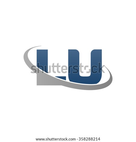 Initial Letter Lu Swoosh Ring Company Stock Vector Hd Royalty Free