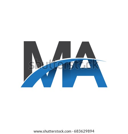 Initial Letter Ma Logotype Company Name Stock Vector Hd Royalty