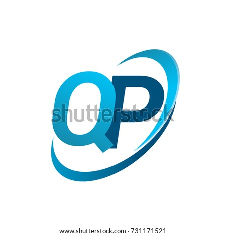 Initial Letter Qp Logotype Company Name Stock Photo Photo Vector
