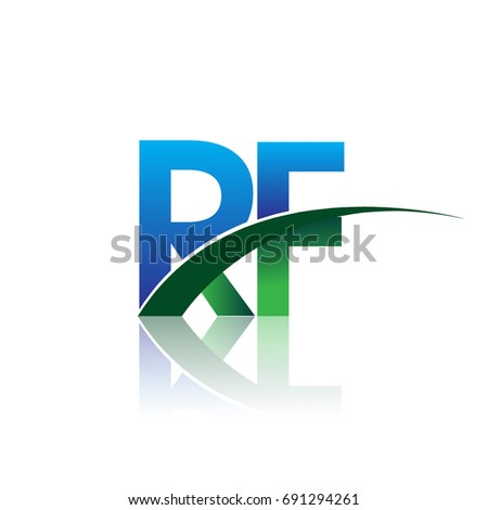 Initial Letter Rf Logotype Company Name Stock Vector 2018