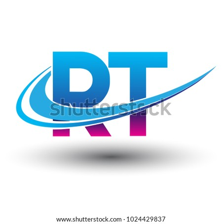 Initial Letter Rt Logotype Company Name Stock Vector 1024429837