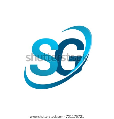 Initial Letter Sg Logotype Company Name Stock Vector Hd Royalty