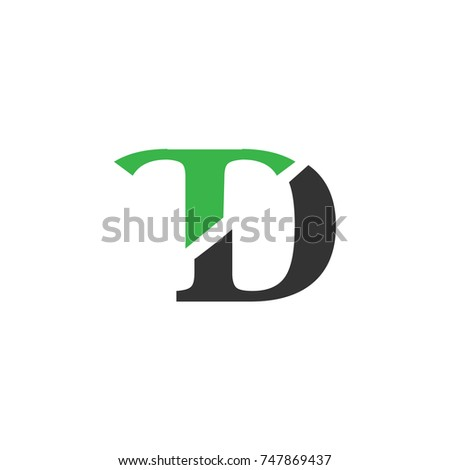 Initial Letter Td Linked Logo Design Stock Photo Photo Vector