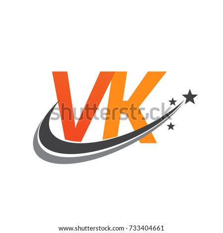 Initial Letter Vk Logotype Company Name Stock Photo Photo Vector
