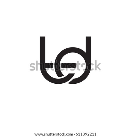 Initial Letters Td Round Overlapping Chain Stock Vector Hd Royalty