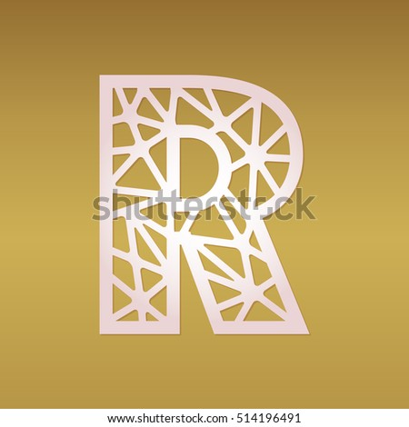 Initial monogram letter r may be stock vector hd royalty free initial monogram letter r may be used for paper cutting fancy alphabet letter altavistaventures Image collections