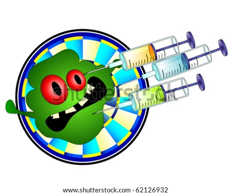 Injection against germ - stock vector
