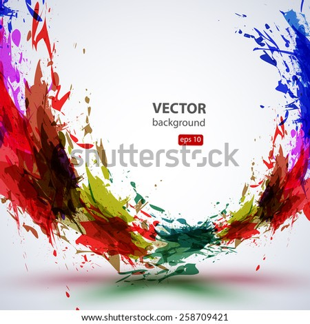 Ink abstract background, easy all editable - stock vector