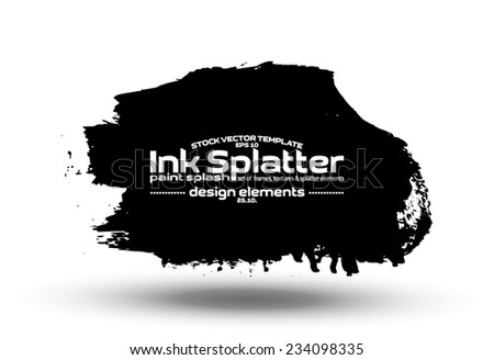 Ink blot collection - design template, stock vector - easy to use - stock vector