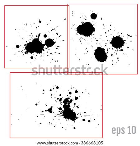 Ink blot Vector Art, Stock Vector - stock vector
