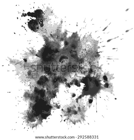 Ink blots. Eps10. Transparency used. RGB. Global color. Gradients free - stock vector
