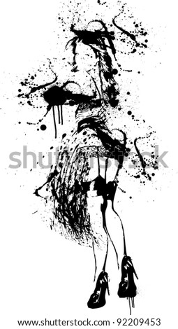 ink girl splatter