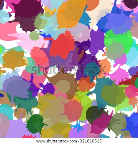 ink kids pattern spots. Colorful vector ink backdrop with blots. For kids meetings, events, holidays, birthdays, children's goods, festive, as background. Paint ink stains. - stock vector