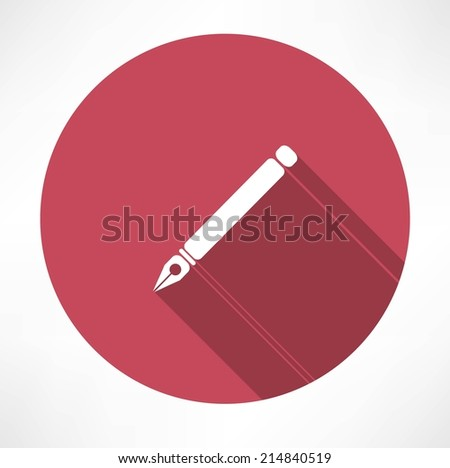 ink pen icon - stock vector