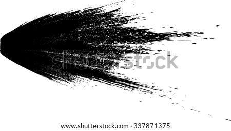 Ink Splash Background . Black Paint Splattered Shape . Grunge Background Texture . Vector