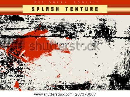 ink splash background-vector texture - stock vector