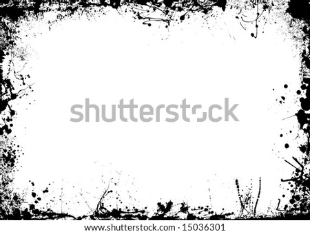 Ink splat illustrated background with room to add copy - stock vector