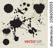 Ink stains, set 2 - stock vector