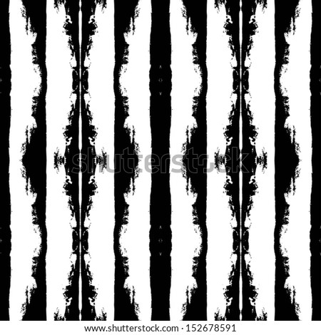 Ink stripes pattern - stock vector