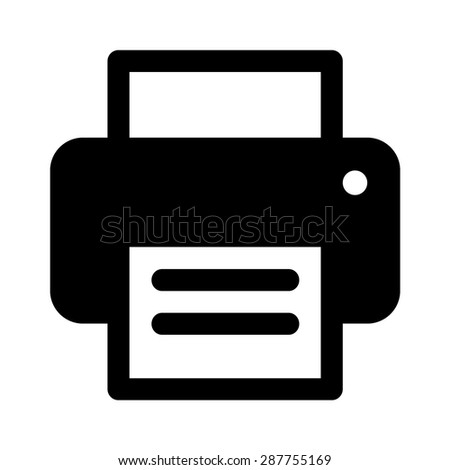 Inkjet printer flat icon for apps and websites - stock vector