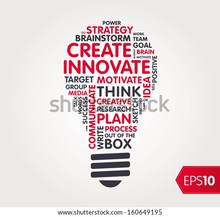 Innovate word shape / cloud - stock vector