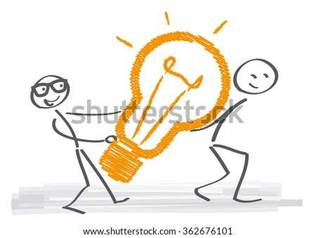 Innovating together - vector illustration - stock vector