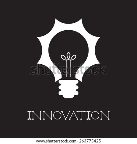 Innovation concept with light bulb - stock vector