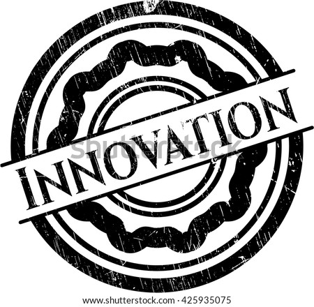Innovation grunge style stamp - stock vector