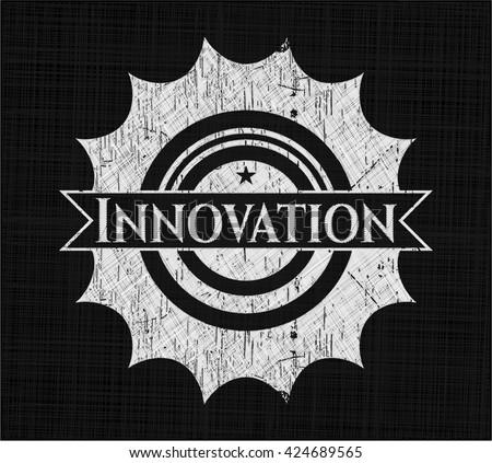 Innovation on chalkboard - stock vector
