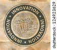 INNOVATION. Vector stamp. Word collage. Vector illustration. - stock photo