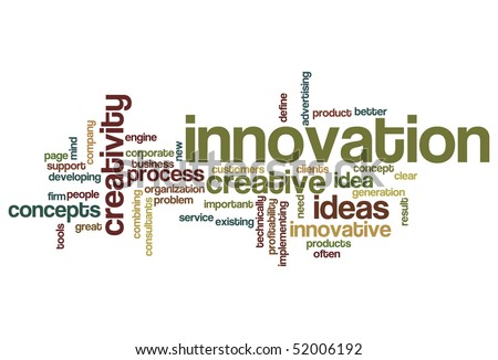 Innovation - Word Cloud - stock vector