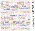 INNOVATION. Word collage on white background. Illustration with different association terms. - stock photo