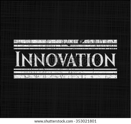Innovation written on a chalkboard - stock vector