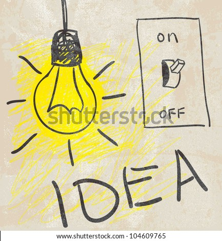 Innovative lamp.  idea concept - stock vector