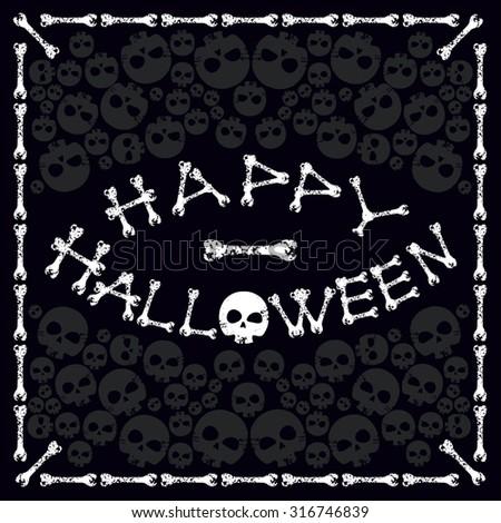 Inscription Happy Halloween - stock vector