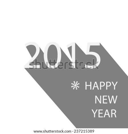 inscription new year  made of elements - stock vector