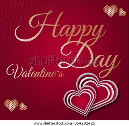 inscription Valentine's day - stock vector