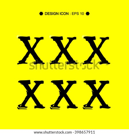 Inscription XXX adult isolated on background Vector EPS10, Great for any use.