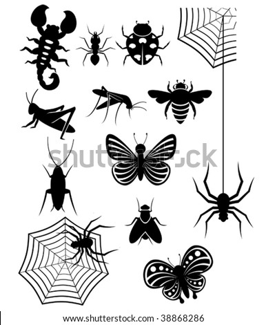 Insect icons - stock vector