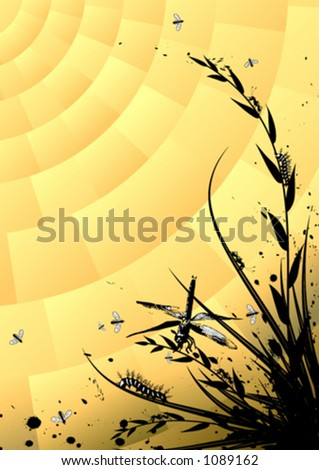 Insects in the wilderness - stock vector