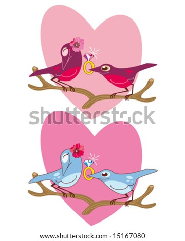 inseparable - stock vector