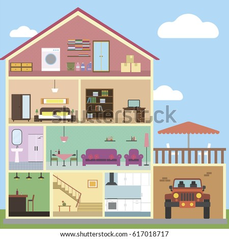 Inside house interior design 617018717 for Interior house design clipart